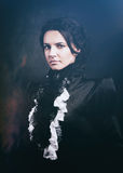 Stylized portrait of a victorian lady in black Stock Photos