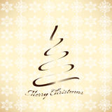 Stylized poster with christmas-tree Royalty Free Stock Photography
