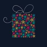Stylized present box Stock Images