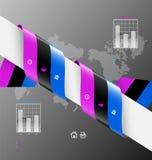 Stylized presentation,option template Royalty Free Stock Photography