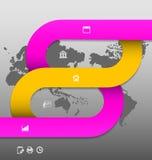 Stylized presentation,option template Stock Images