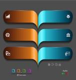 Stylized presentation,option template. For interactive data communication Stock Image