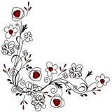 Stylized pretty floral pattern Stock Photography