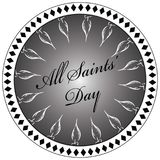 Stamp All Saints Day Stock Images