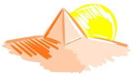 Stylized pyramid in desert Stock Image