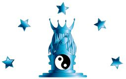 Stylized Queen with tao and stars  Stock Image