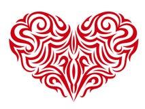 Stylized röd hjärta Arkivfoto