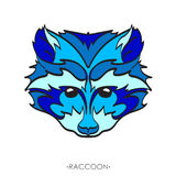 Stylized Raccoon. vector illustration of raccoon. Sketch of raccoon for tattoo or print. raccoon face. Stylized Raccoon face. Hand Drawn vector illustration Stock Images