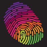 A stylized rainbow fingerprint. For Print or Web Royalty Free Stock Photos