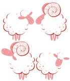 Stylized rams and sheep Royalty Free Stock Photos