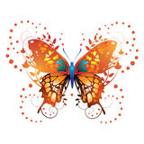 Stylized red butterfly Stock Photo