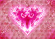 Stylized Red Heart Royalty Free Stock Images