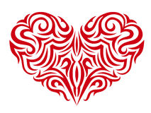 Stylized red heart. Isolated on background Stock Photo