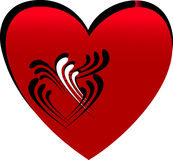 Stylized red heart Stock Photography