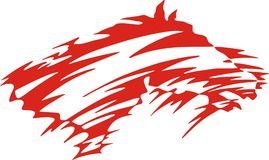 Stylized Red Horse. Great for vehicle graphics, stickers, decals and T-shirt designs Royalty Free Stock Photo