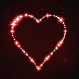 Stylized red irregular heart in style of star constellation Stock Photo