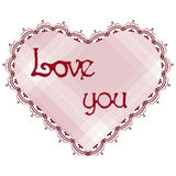 Stylized red lacy heart Stock Image