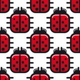 Stylized red ladybug seamless pattern Royalty Free Stock Image