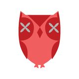 Stylized red owl Stock Photo