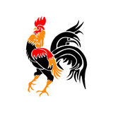 Stylized red rooster isolated on white background. Year fire rooster. illustration. Stylized red rooster isolated on white background. Year fire rooster. Vector Royalty Free Stock Photos