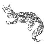 Stylized reptile isolated on white background. stock illustration