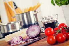 Stylized Retro avbildar av pastan och ingredienserna Royaltyfri Bild