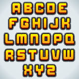 Stylized Retro Font. Vector Royalty Free Stock Images