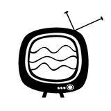 Stylized retro tv. Stylized design of Old TV with noise on screen, vector Stock Images