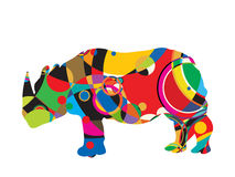 Stylized rhinocerus Royalty Free Stock Photography