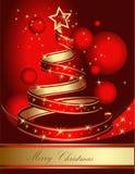 Stylized ribbon Christmas tree Stock Image