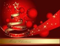 Stylized ribbon Christmas tree Stock Images