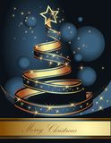 Stylized ribbon Christmas tree. Vector illustration. Stock Photography