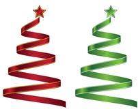 Stylized ribbon Christmas tree. Vector illustration. Eps 10. Royalty Free Stock Image