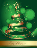 Stylized ribbon Christmas tree. Vector illustration. Stock Images