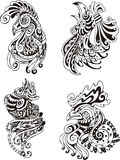 stylized roosters Royaltyfri Fotografi