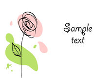 Stylized rose Stock Photography