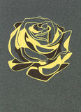 Stylized rosebud. Gouache on gray paper. Stock Images