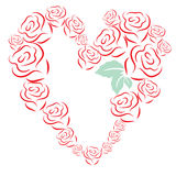 Stylized roses arranged in a heart shape, Vector illustration, clip art  Stock Photos