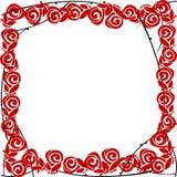 Stylized roses frame Stock Photos