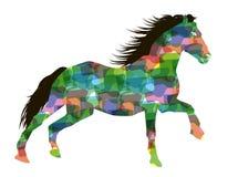 Stylized running horse. Royalty Free Stock Image