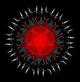 Stylized satanic sect. Image representing the concept of a satanic sect. An image that can be used in all projects concerning satanism and esotericism Royalty Free Stock Photos