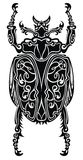 Tattoo artist stylized scarab. Stylized scarab. Doodle ethnic patterned vector bug Stock Images