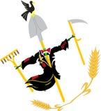 stylized scarecrow royaltyfri illustrationer
