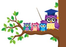 Stylized school owl theme image 5 Royalty Free Stock Photography
