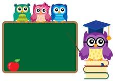 Stylized school owl theme image 4 Stock Photography