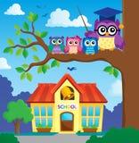 Stylized school owl theme image 7 Royalty Free Stock Photography