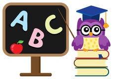 Stylized school owl theme image  Royalty Free Stock Photography
