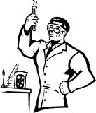 Stylized Scientist Royalty Free Stock Image