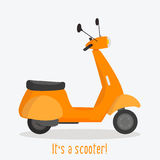 Stylized scooter illustration Royalty Free Stock Photo