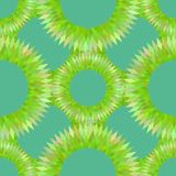 Stylized sea urchin seamless pattern vector Royalty Free Stock Images